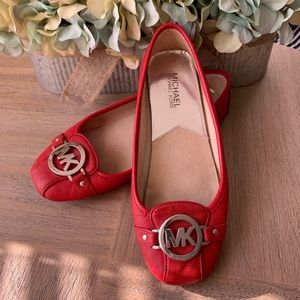 Red Michael Kors Flats!